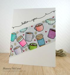 Lawnscaping Challenge: Winners: Lawn Fawn Coffee & Hot Cocoa card by Shannon McComb.