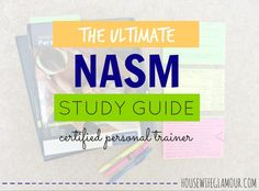 Everything you need to know about taking the NASM CPT Exam! #NASM #CPT