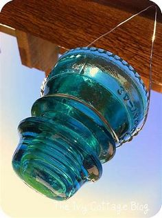 Image result for glass insulators craft ideas