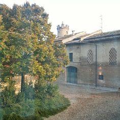 La vista dalla camera del b&b in mezzo alla Pianura Padana
