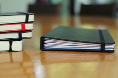 The ModNote replaces this stack of 3 notebooks and a daily planner. -- Super cool idea.