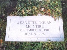 """Jeanette Nolan - She appeared in the movie """"Macbeth"""" opposite Orson Welles and did some of the screams for Mother in """"Psycho"""", she was a frequent guest star on many TV series, including """"Gunsmoke"""" and """"The Richard Boone Show"""" Jeanette Nolan, John Mcintire, Unusual Headstones, Famous Tombstones, Cemetery Decorations, Famous Graves, The Virginian, Cemetery Art, Till Death"""