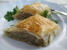 Káposztás rétes Hungarian Recipes, Spanakopita, Apple Pie, Main Dishes, Vegetarian, Ethnic Recipes, Food, Oreos, Food And Drinks