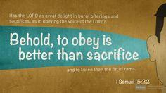 I'm reading 1 Samuel 15:22