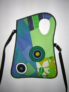 Kis táska zöld-kék
