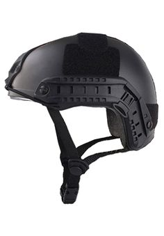 Airsoft Alien MH Type Tactical Black Fast Helmet With Side Rails and NVG Mount DE ! Buy Now at gorillasurplus.com