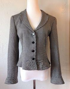 New arrivals! #Armani Collezioni Chevron Wool Blend #Peplum Blazer Jacket Size 44 8 Gray http://www.ebay.com/itm/Armani-Collezioni-Chevron-Wool-Blend-Peplum-Blazer-Jacket-Size-44-8-Gray-/162049518678?ssPageName=STRK:MESE:IT