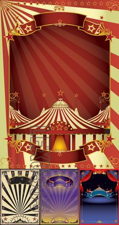 Quality Graphic Resources: Frames for Circus Posters 2