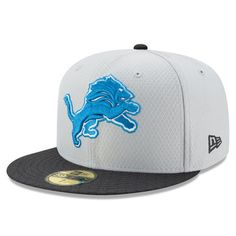 Detroit Lions New Era 2017 Sideline 59FIFTY Fitted Hat - Gray 23f851228d6