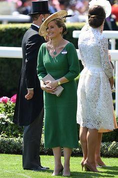 Queen Elizabeth, Duchess Camilla, Duchess Catherine, Countess Sophie of Wessex, Princess Beatrice, Princess Eugenie, Zara Phillips, Kate Middleton wore ALEXANDER MCQUEEN Lace Dress