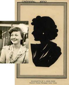 custom silhouette of vintage photo