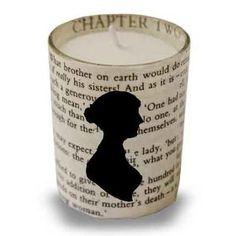 Jane Austen votive holder.