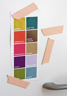 10 Awesome Office Printables - washi tape magnets  I have some fun washi tape around. This could be fun.
