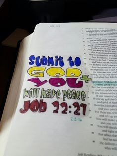 Bible journaling job 22