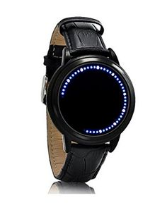 Wangyue Blue LED Digital Touchscreen Watch with Leather Strap >>> See this great product.Note:It is affiliate link to Amazon.