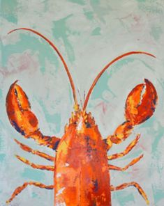 Artwork at Maine Cottage | Lobster-in-the-Half by Katherine Carney