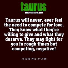 Taurus don't compete