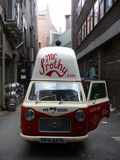 Mr Frothy mobile bar...I LOVE BEER TOO