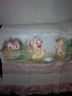 Fralda pintura em tecido: