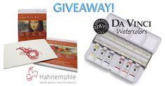 Hahnemühle Paper & 6 Tubes of Da Vinci Watercolors Giveaway