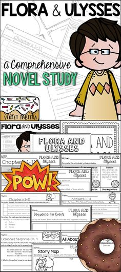 Flora and Ulysses Novel Study Guide and Comprehension Unit. 100+ pages of questions, vocabulary, activities, extensions and answer keys.