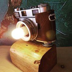 UPCYCLE OLD CAMERA LAMP DESIGN - EKERLER DESIGN