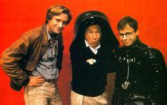 Bill Pullman, Mel Brooks and Rick Moranis on the set of Spaceballs
