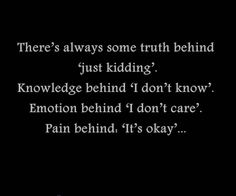 There's Always Some Truth Behind 'Just Kidding'