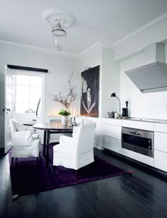 Scandinavian Aesthetics And Asian Influences In The Interior LO-VE the CONTRAST!! What a statement!
