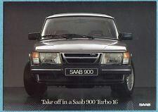Vintage '85 Saab 900 Turbo Magazine Advertisement.