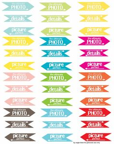 Free Project Life tags made by Angie Blom - even though I don't do project life, I can use these in my 12x12 albums