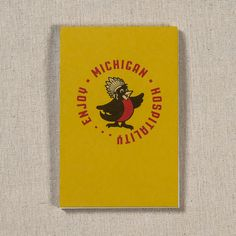 Perfect for taking notes at your favorite Michigan micro-brewery or sketching your dream cabin in the woods, this reporter-style notebook sports an image of our state bird, the robin, on the cover and interesting state facts on the inside