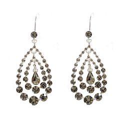 Amazon.com: Topwholesalejewel Silver Black Diamond Rhinestone Chandelier Hook…