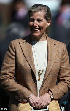 Passion for horses: Although not as committed as the Queen, Sophie Wessex is also a horsewoman
