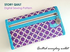 easy to sew bag pattern, handbag pattern, purse pattern, quilted bag, pouch pattern, card holder, sewing pattern, sewing tutorial, digital pdf, tutorial, Story Quilt, long wallet, wallet for women, pattern pile