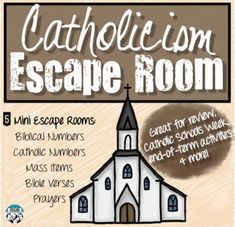 Catholicism Escape Room for Religion Classes - My most creative list Religion Activities, Teaching Religion, Youth Group Activities, High School Activities, Activities For Teens, Group Games, Youth Groups, Catholic Schools Week, Catholic Religious Education