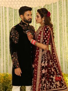 Kolkata: Nusrat Jahan - Nikhil Jain wedding reception - Social News XYZ Wedding Kurta For Men, Wedding Dresses Men Indian, Indian Bridal Outfits, Indian Bridal Fashion, Bridal Dresses, Queen Wedding Dress, Couple Wedding Dress, Groom Outfit, Groom Dress