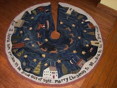 """Christmas in New England"" tree skirt"