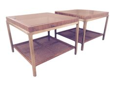 Vintage Drexel Style Coffee Tables - Pair on Chairish.com
