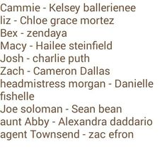 My dream cast for the Gallagher girl books!