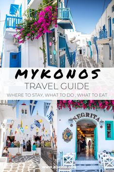 Here is the best Mykonos Travel Guide for This has the best Mykonos Travel tips and where to eat in Mykonos as well as where to stay in Mykonos. As well as what to do in Mykonos Town Mykonos Restaurant, Mykonos Hotels, Mykonos Town, Greece Itinerary, Greece Travel, Greece Honeymoon, Santorini Travel, Best Greek Islands, Greece Islands