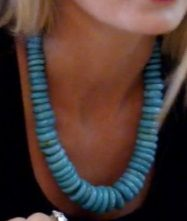 Southern Charm, Cameran Eubanks, Cameron, turquoise necklace, blue necklace, worn on tv, tv fashion, clothes from tv shows, Southern Charm outfits, bravo, reality tv, season 3