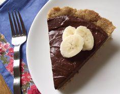 vegan sugar free grain free chocolate banana cream pie.