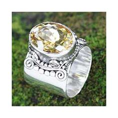 Sterling Silver 'Majestic' Citrine Ring (Indonesia) | Overstock.com Shopping - Great Deals on Novica Rings