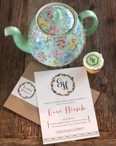 Tea Time Invitations - A Shabby-Chic Backyard Shower for Blogger and Bride-to-Be Geri Hirsch