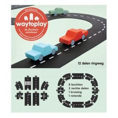 Waytoplay Ringweg Flexibele autobaan 12-delig