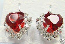 Stylish Fashion Silver Plated Czech Crystal Pierced Stud Earrings
