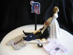 Detroit Tigers BASEBALL Wedding Cake Topper Groom Cake. $46.95, via Etsy.