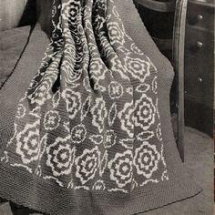 Crochet Afghan Pattern Cape Cod Floral Design