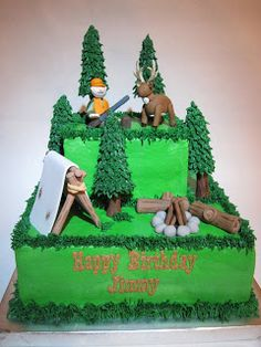 Hunting Birthday Cake Toppers